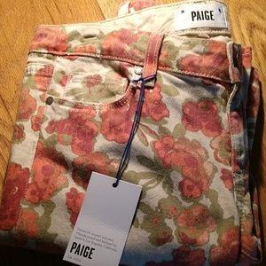 💋NWT💋 PAIGE Printed Autumn Color Palette Jeans